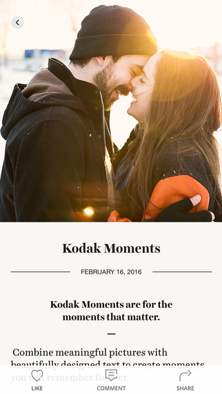 Kodak moments for iOS