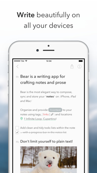 Bear for iPhone