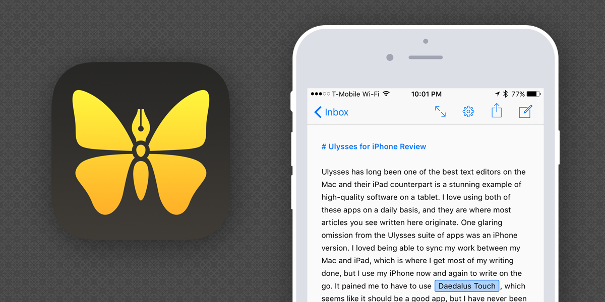 Ulysses Mobile for iPhone