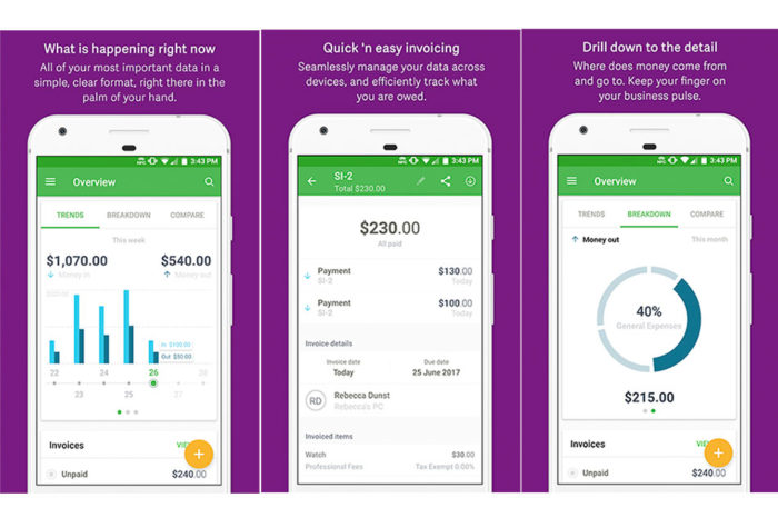 Sage Expenses & Invoices @ Android.  Designed for small business owners