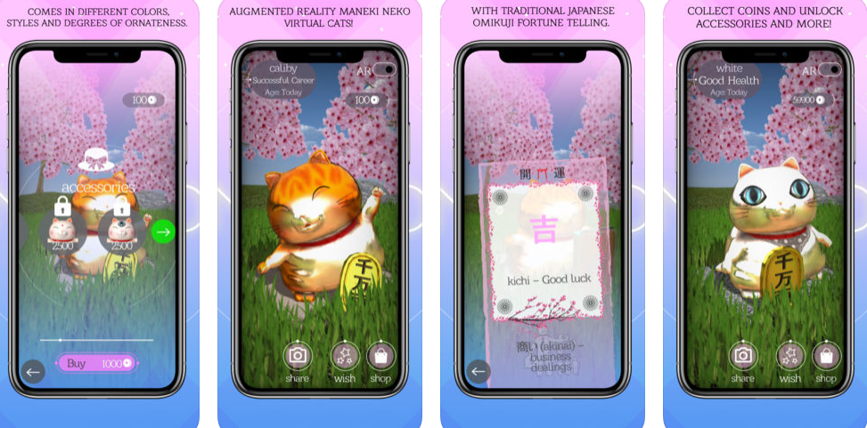 Predict your Fortune with AR Maneki Neko