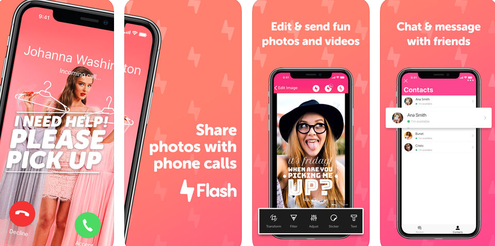 Visualize your phone calls with Flash