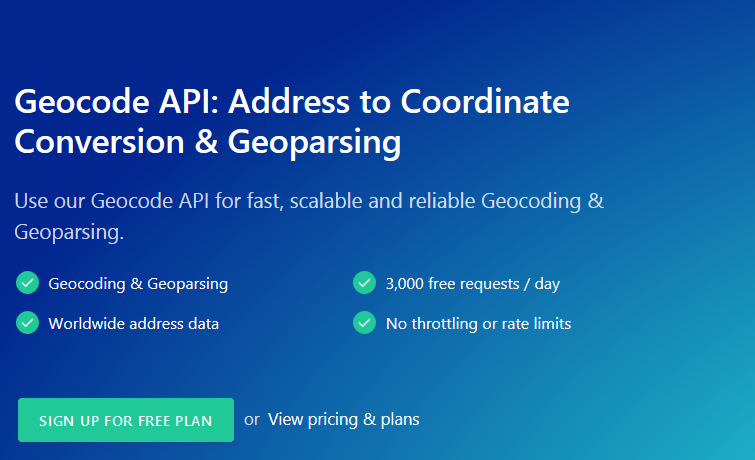 GeoCode API – The Solution to Geocode and Geoparse Your Application