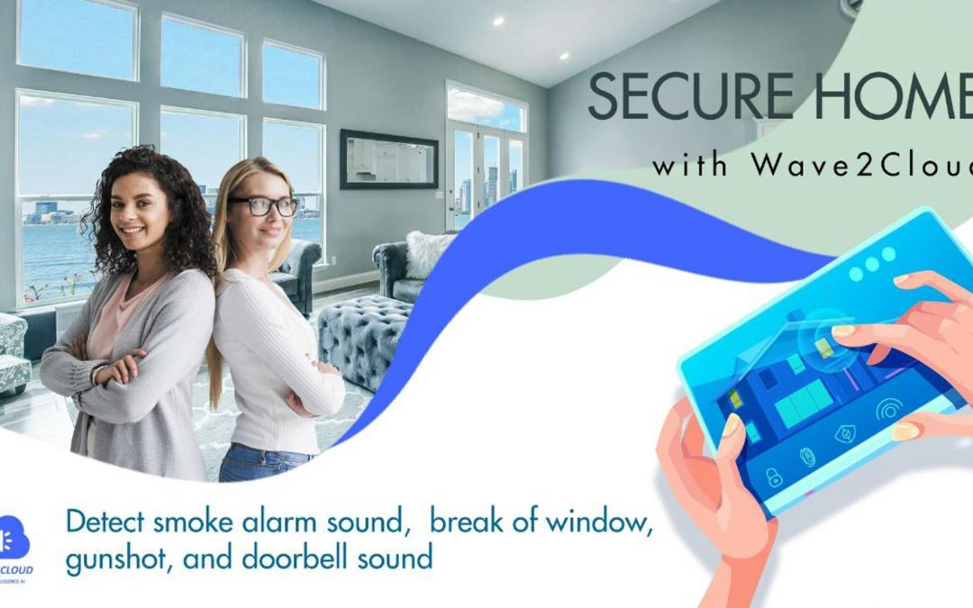 Wave2Cloud Home Security Camera, Audio Monitor