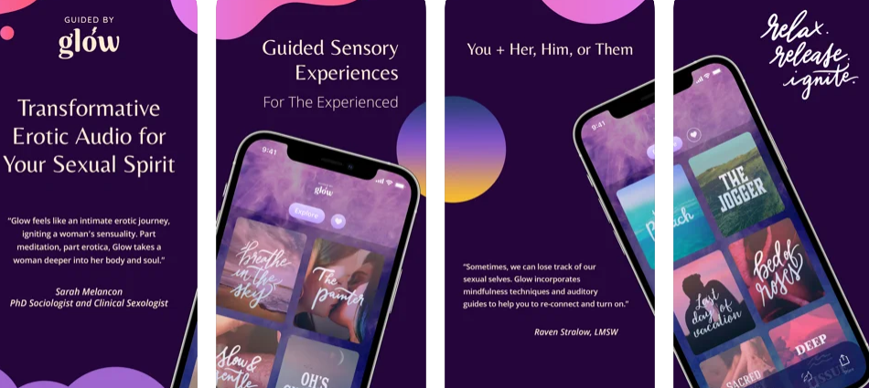 Guided is a female-focused sexual wellness app based on auditory sensory stimulation