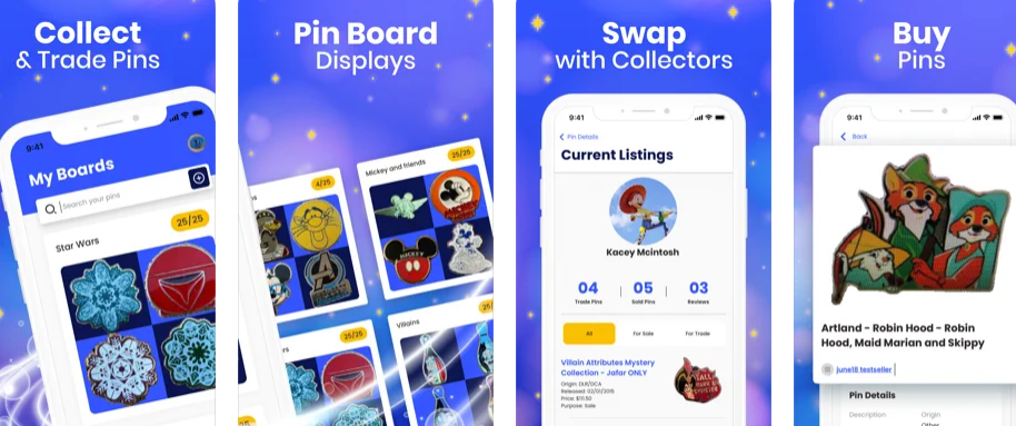 Buy, sell & showcase your pin collection with Magic Pin!