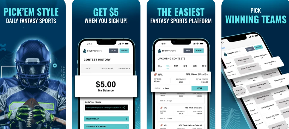 Bounty Sports, a fantasy sports app for the everyday fan.